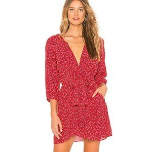 Free People Clara Tunic Dress Red Floral Revolve